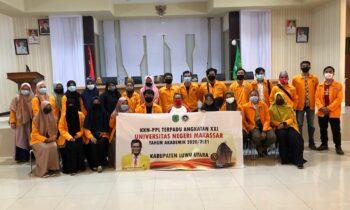 Mahasiswa KKN-PPL Terpadu XXI UNM Diterima Pemkab Luwu Utara