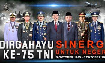 HUT TNI Ke-75 Diperingati Secara Virtual di Istana Negara